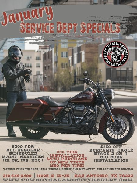 January Service Dept. Specials