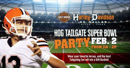SUPER HOG TAILGATE PARTY SUPER BOWL PARTY