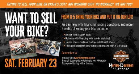 Sell your Motorcycle EVENT!
