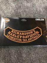 RICHARDSON'S HARLEY-DAVIDSON EMBLEM/ROCKER