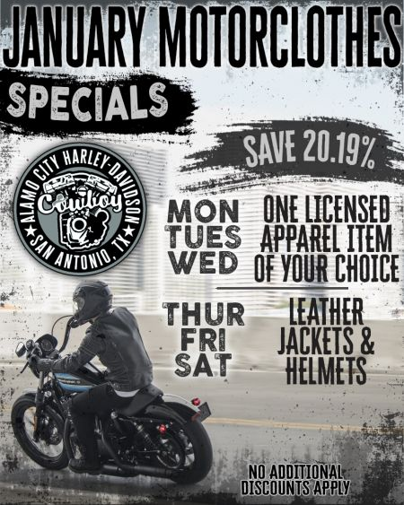 January Specials for Motorclothes