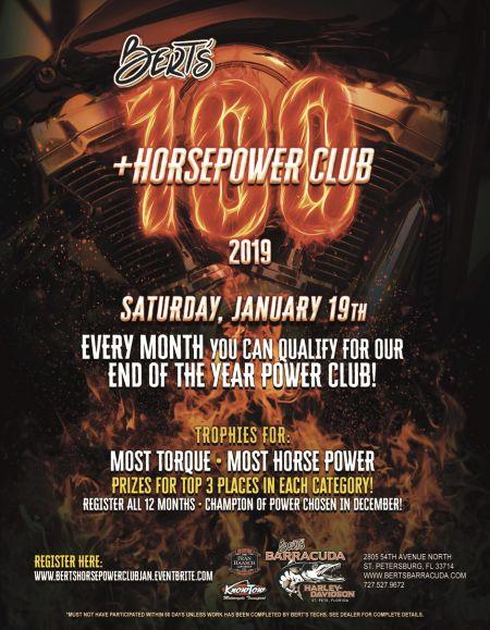 Bert's 100+ HorsePower Club of 2019