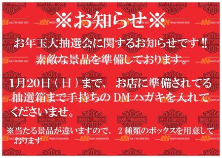 お年玉大抽選会について!!