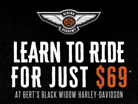 Learn to Ride in January 2019 for just $69!