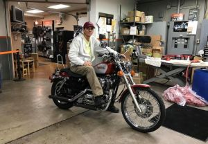Give Matt from Delaware a huge congratulations on his XL 1200C! Matt heard about us by referral from one of his close friends, and decided this is where he wanted to buy his next bike! Thank you Matt for making us your #1 Harley dealer and we hope you enj