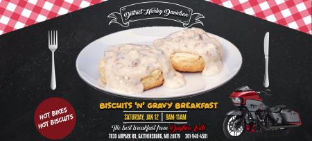 District Biscuits 'N' Gravy Breakfast