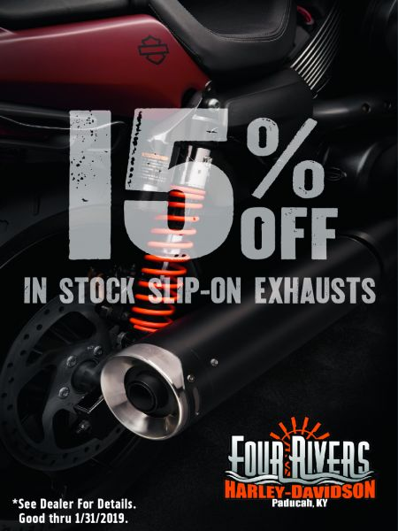 15% OFF IN STOCK SLIP-ON EXHAUSTS