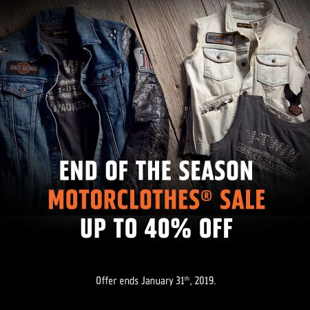 END OF THE SEASON MOTORCLOTHES SALE 40% OFF