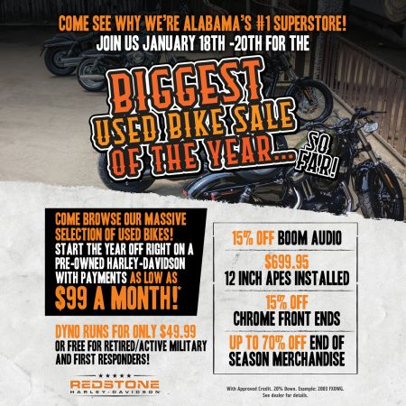 Biggest Used Bike Sale of the Year so far