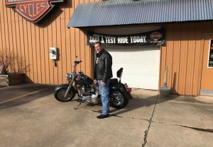 Give our buddy Bob a huge congratulations on his Fat Boy! Bob was eyeing this beauty up on line and decided to come down and make it his on Saturday. Enjoy the bike, and the many miles you're going to put on it Bob!