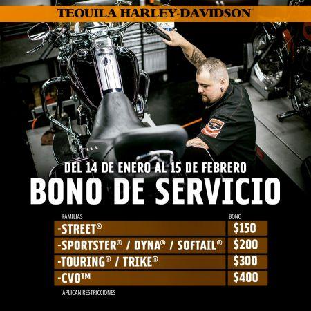 BONO EN EL SERVICIO DE TU HARLEY®