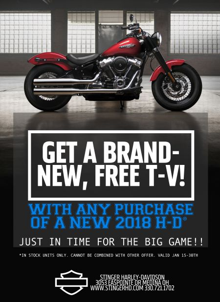 Get a FREE TV with bike purchase!