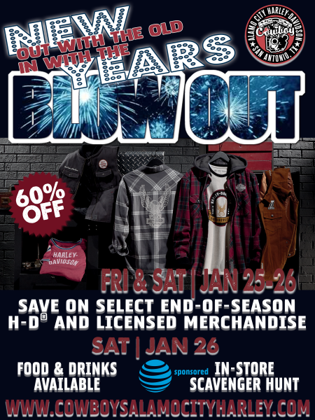 Out With the Old - New Years Blowout Sale