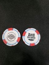 Red, White and Blue Poker Chip