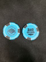 Blue and Black Poker Chip
