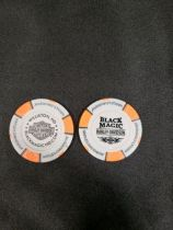 Gray and Orange Poker Chip