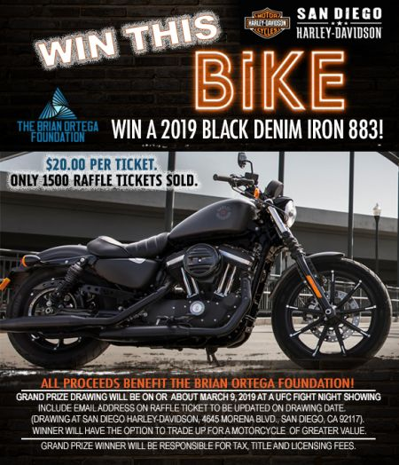 WIN THIS 2019 BLACK DENIM IRON 883!