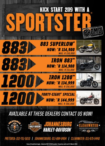 Sportster Promotion - 883's and 1200's