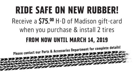 Ride Safe on New Rubber!