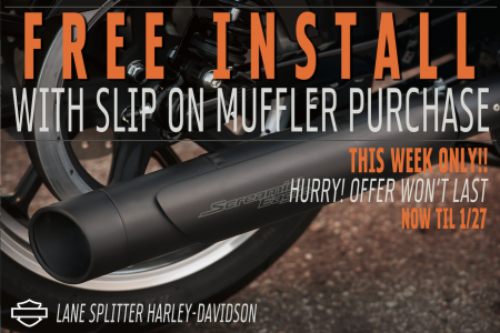 Free Install with Muffler Purchase