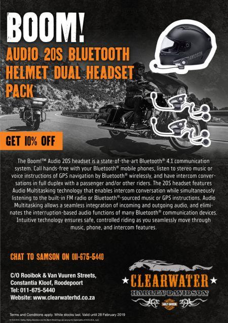 Clearwater Bluetooth Helmet Dual Headset