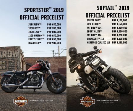 2019 Harley-Davidson of Manila Softail & Sportster Prices