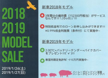 月末キャンペーン☆1月26日・27日