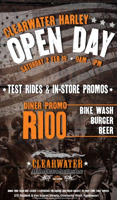 OPEN DAY - Saturday 2 FEB