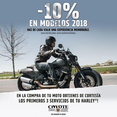 -10% EN MODELOS 2018