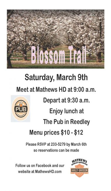 Blossom Trail Ride