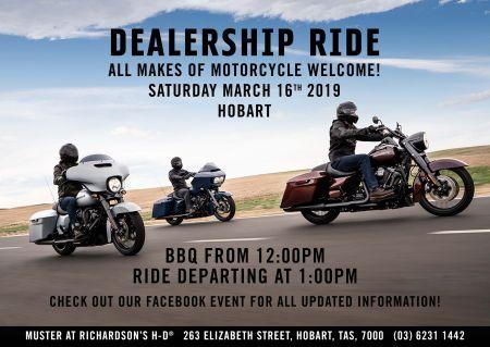 Dealership Monthly Ride #3 Hobart