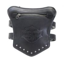 Ls Garter B&S with Studs Black Leather Thigh Wallet