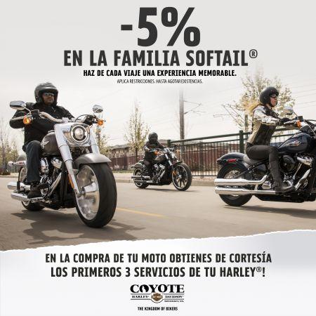 -5% EN LA FAMILIA SOFTAIL