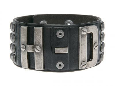 Men's Salvage Cuff, H-D Studded Leather Cuff