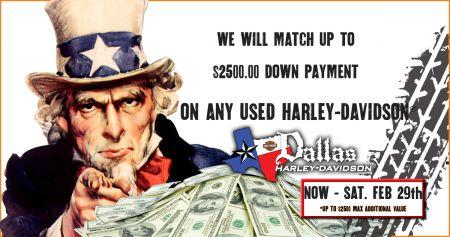 Dallas Harley-Davidson® will match your TAX Refund