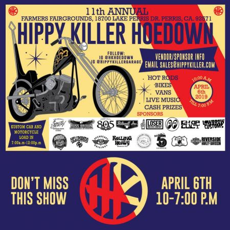 11th Annual Hippy Killer Hoedown Hot Rod, Custom Car, and Chopper Show: 4/6/19