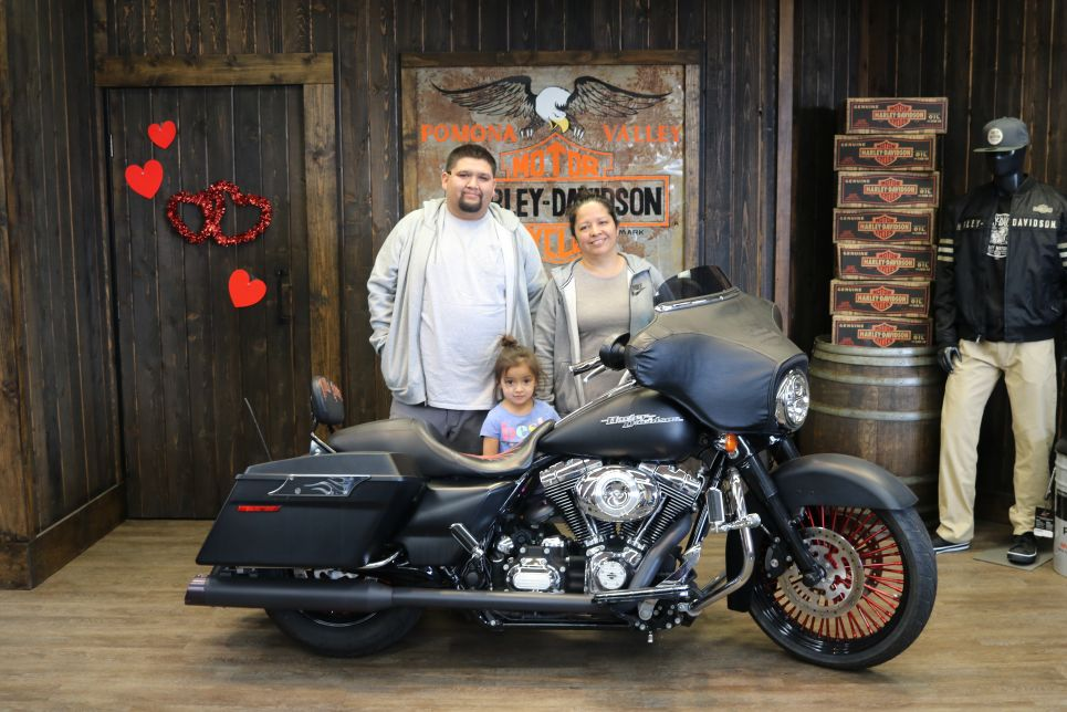 The Contreras Family and their new Street Glide!