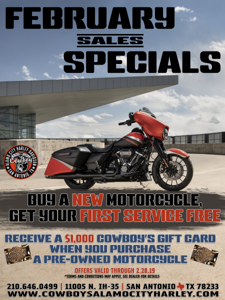 February Sales Specials