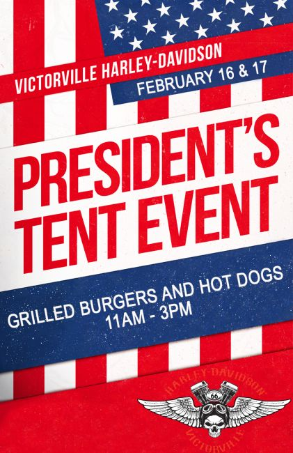 Presidents' Day Tent Event