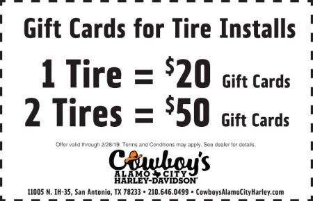 FEBRUARY SERVICE COUPON - GIFT CARD FOR TIRE INSTALLS