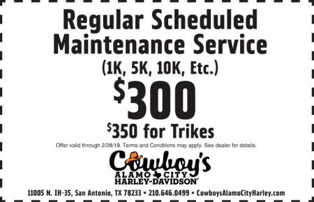 FEBRUARY SERVICE COUPON - SCHEDULED MAINTENANCE SERVICE