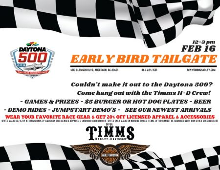 Daytona 500 Early Bird Tailgate