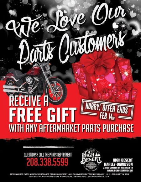 We Love our Customers, Parts Promo