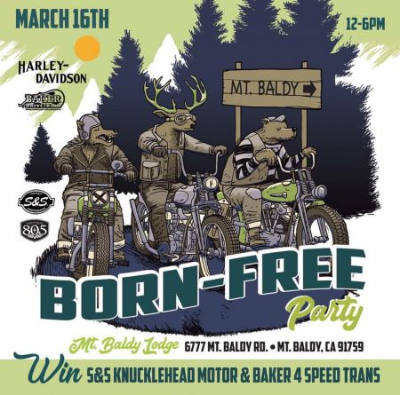 BORN-FREE PARTY 2019 - Mt. Baldy Lodge 3/16/19  Noon - 6pm