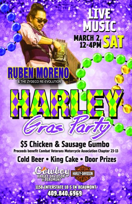 Harley Gras Party