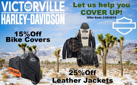 15% Off H-D Motorcycle Covers and 25% Off H-D Leather Jackets