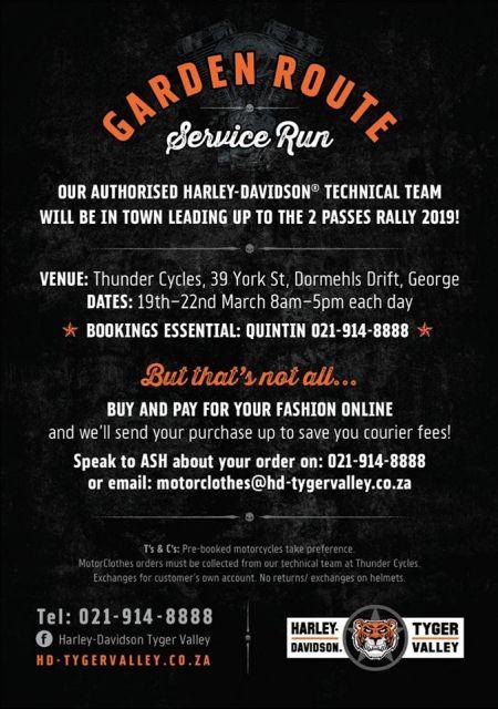 Garden Route Service Run