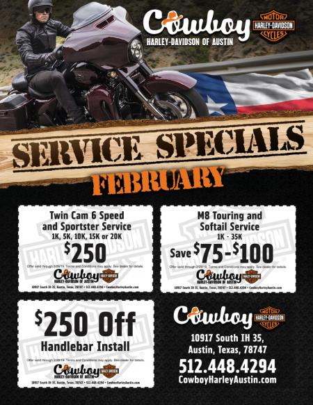 February Service Specials!!