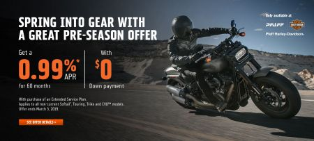 0.99% RATE FOR 60 MONTHS & $0 DOWN ON NEW NON-CURRENT MOTORCYCLES