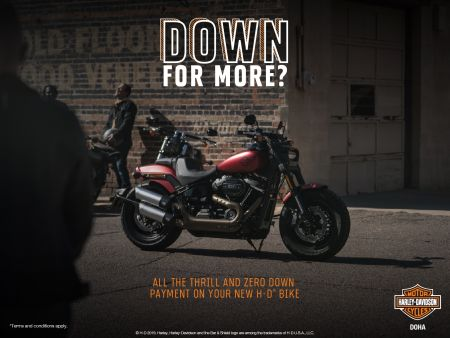Down to 0% downpayment on the 2019 Model Bikes